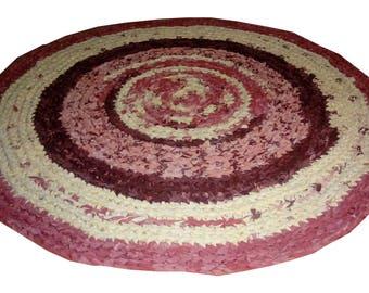 Bohemian Gypsy, Fabrics Round Rug, Crochet Round Rug  Mat Bathroom Eco friendly NEON colors, YOGA MAT, Mandala