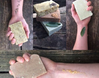 Handmade Goat's Milk Soap, Small Batch Soap, Goat Milk Soap, Lavender, Lemongrass, Sage, Patchouli, Tea Tree, Spearmint, Cedarwood, Orange
