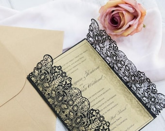art deco gatsby wedding invitations
