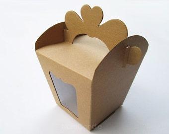 Wedding Favor Box, Gift Box, Kraft Box, Food Grade Box Set of 10