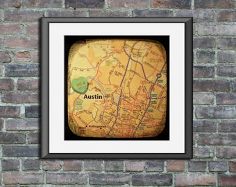 me & you austin custom candy heart map art ttv unframed photo print anniversary wedding engagement housewarming gift
