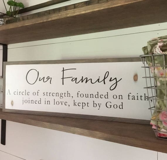 """OUR FAMILY sign 8""""x24"""" 