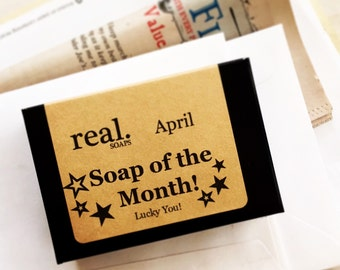 Soap of the Month, 6 Month Soap of the Month Club, 6 month subscription, soap club, monthly, membership
