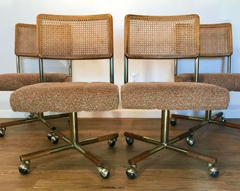 Vintage Mid Century Swivel Chairs by Cal Style Furniture Mfg Co.