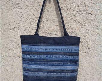 Handbag upcycled denim shoulder bag