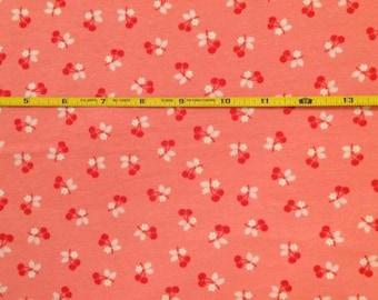 NEW Riley Blake Calico Days Cherries cotton lycra knit 1 yard