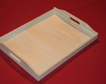 Large tray blank with two handles