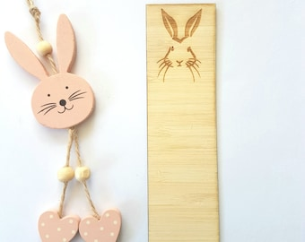Bunny-Rabbit-Easter-Wooden Bookmark-laser cut