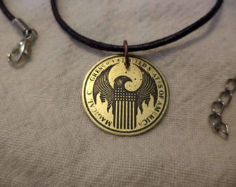 Magical Congress of the USA Small Etched Brass Pendant
