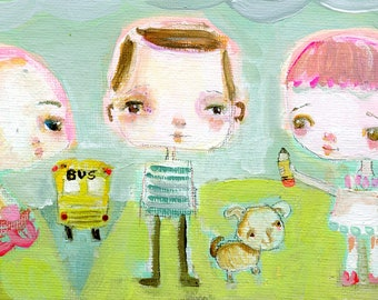 Back 2 School  - art print by Mindy Lacefield