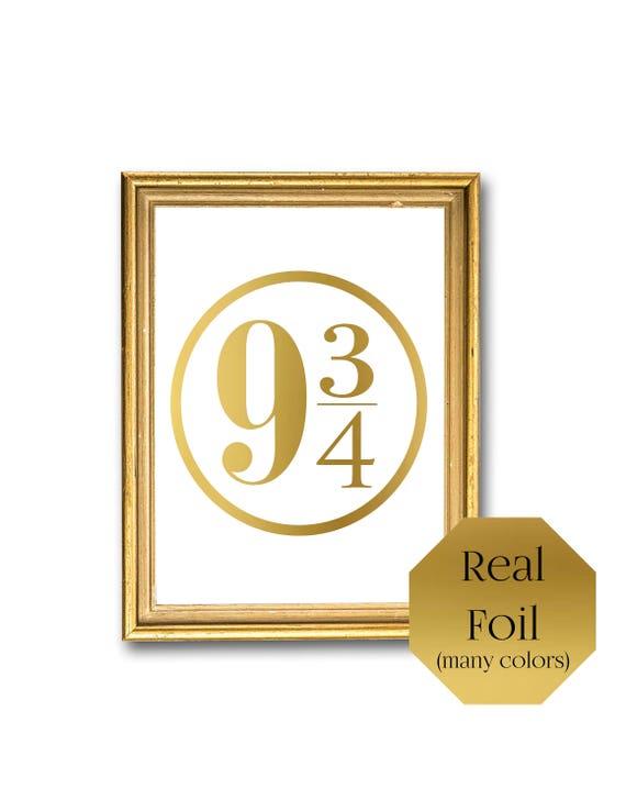 Harry Potter Wall Art Hogwarts Express 9 3/4 Gold foil