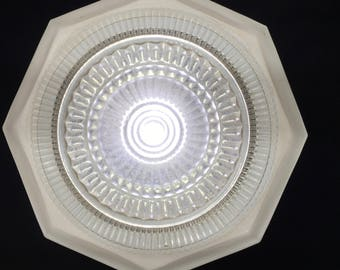 Deco Style Ceiling Glass Light Shade Octagon