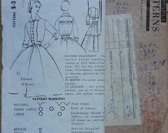 "vintage Sewing Pattern. Spadea patterns. Dress pattern. Size 16. Bust 38"" designed by Fabiani of Rome"