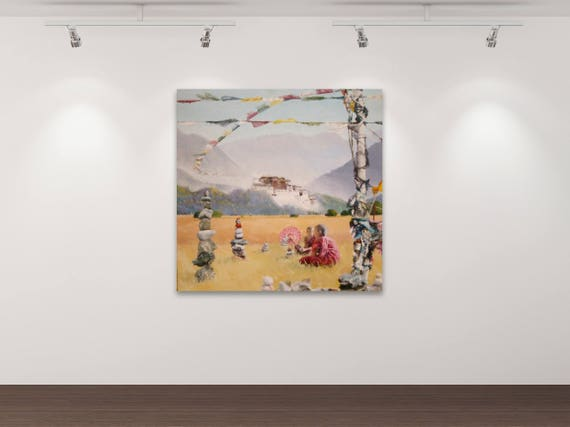 Deja vu IV - Kunstdruck Gemälde von Stephanie Oncken