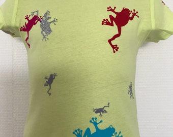 Biocotton kids shirt frogs