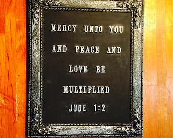 Bible Verse Wall Plaque. Jude1:2