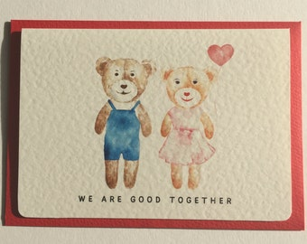 """Valentine's, Anniversary, Romantic Card """"We Are Good Together"""""""