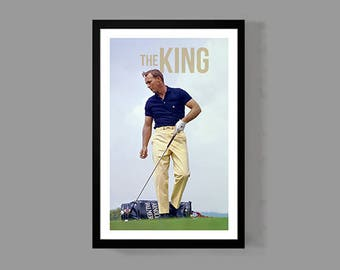 The King Poster - Golf Print - Sports, Legend, Icon, Inspirational, Motivational, Historic, Classic