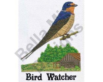 Bird - Machine Embroidery Design, Bird Watcher