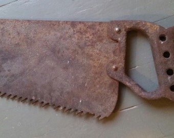 Ice Saw with Steel Handle, Vintage