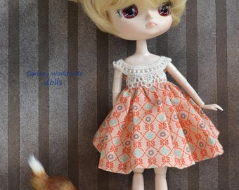 Handmade cotton dress for Dal outfit