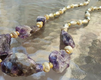 Rugged Amethyst Necklace