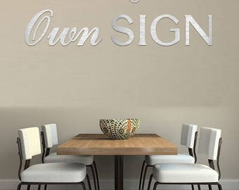 Metal Letters - Create Your Own Custom Metal Sign - Small To Large Metal Letters - Wall Letters - Alphabet Letters