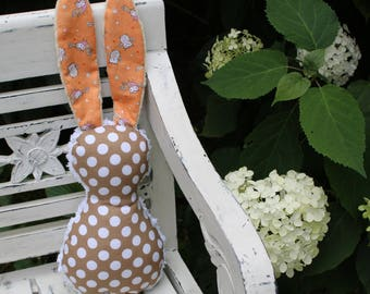 Orange Owls Bits The Bunny Plush Rattle
