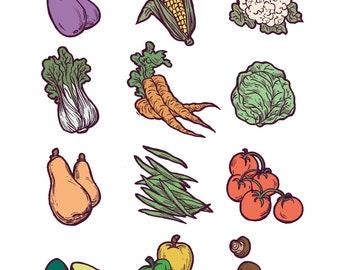 Veggie Print
