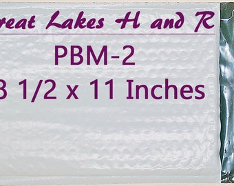 100 PBM-2, Self-Sealing Poly Bubble Cushioned Envelope Mailers 9 1/4 x 11 inches OD