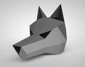 Wolf Mask | Paper Mask | Papercraft 3D DIY kit