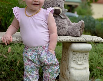 Girls Chillax pants size 0 flower fairy print