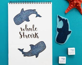 Stamp whale shark