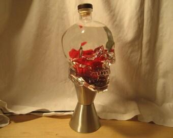 Custom Lava Lamp Light 1.75 Liter Crystal Head Vodka Skull
