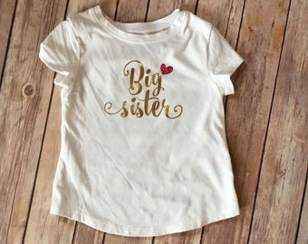Big sister tee, sibling shirt