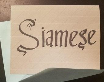 Calligraphy Hand Written Stationary