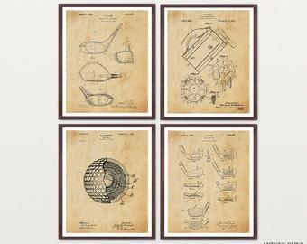 Golf Poster - Inventions of Golf Print Set - Golf Art - Golf Clubs - Golf Balls - Golf Bag - Golf Wall Art - Golf Patent - Vintage Golf Art