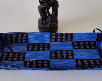 African Print Collapsible, Reversible, Baskets, Abstract Design, Home Decor, Home Textile