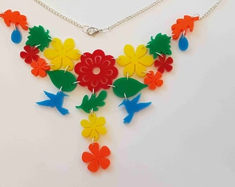 Tropical Dream Necklace - Multi Acrylic