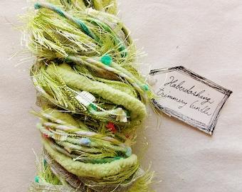 Muscadine Grapes spring green chenille pom trim mix Novelty Fiber Yarn Sampler Bundle