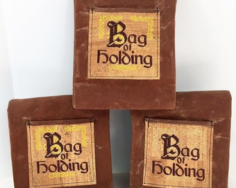 Reuseable Brown Waxed Canvas Bag of Holding