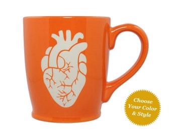 Anatomical Heart Mug - Choose Your Cup Color