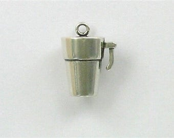 Sterling Silver 3-D Travel Mug Charm