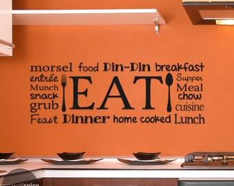 Eat Kitchen Collage Vinyl Wall Decal Sticker