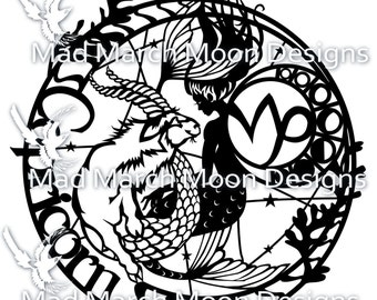 Zodiac BUNDLE 3 Papercut commercial TEMPLATES .PDF download