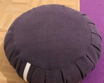 Traditional ZAFU meditation and yoga cushion - VIOLET