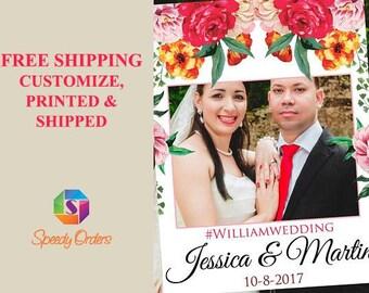 Large Floral Bridal Shower Photo booth prop, Bridal Shower Photo Prop , Bridal Shower Photo booth frame, Wedding photo frame prop ;10011224