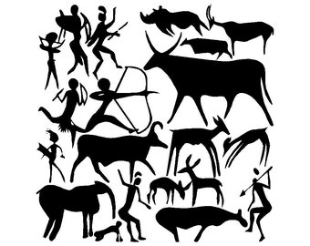 cave painting vinyl decal/sticker