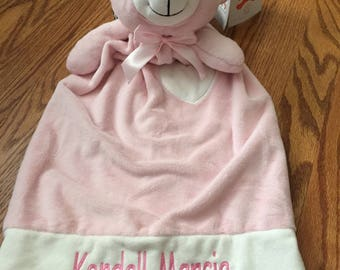 Personalized Lovey Bear blanket  Baby Gifts