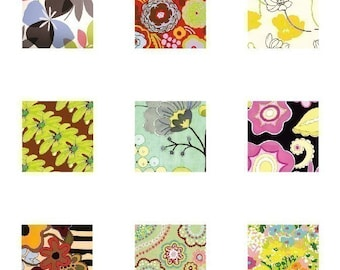Mod Flora Prints - Scrabble Size Printable Images - Buy 2 Get 1 Free - Instant Download - .75x.83 Inch - Digital File - Automatic Download